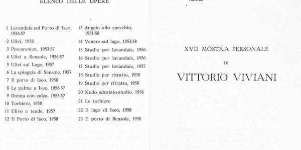 1958 – mostra personale Viviani GRATTACIELO PELLI – SAREZZO