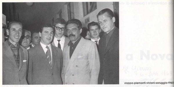 1960 – Mario Zappa Lorenzo Piemonti Vittorio Viviani Aldo Saruggia – foto dal catalogo del 1992