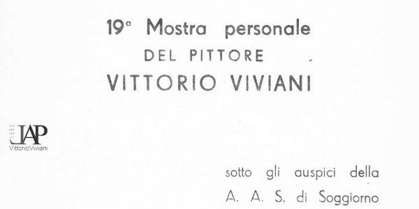 1960 – invito 19° mostra personale Viviani a Iseo