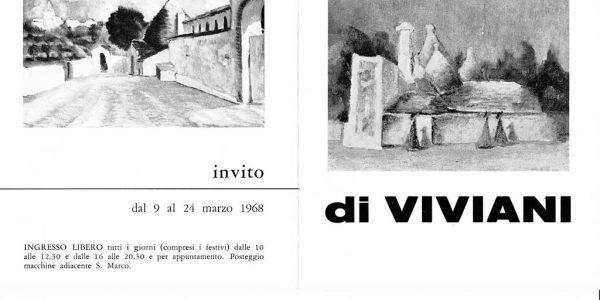 1968-invito mostra I TRULLI di Viviani GALLERIA BALESTRIERI Milano