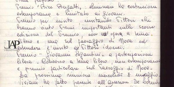 1968 – verbali organizzazione Premio Bice Bugatti – Archivio LAP 02
