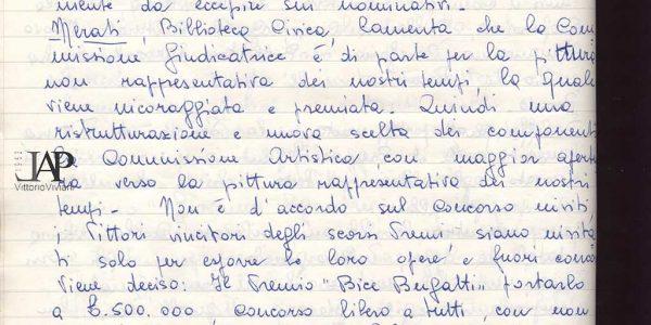 1968 – verbali organizzazione Premio Bice Bugatti – Archivio LAP 03