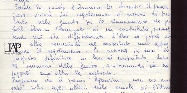 1968 – verbali organizzazione Premio Bice Bugatti – Archivio LAP 07