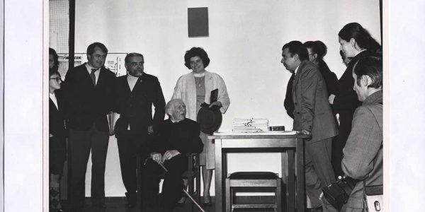 1972 – omaggio allo scultore novese Enrico Arosio ul Bianchin – centro parrocchiale – Amici dell'arte