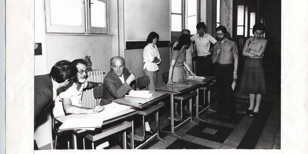 1975 – 13° Premio Bice Bugatti – Archivio foto LAP – 037 – commissione artistica seduti Monteverdi e Scalvini