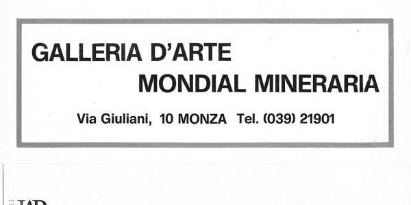 1976- invito mostra personale Viviani GALLERIA MONDIAL MINERARIA MONZA