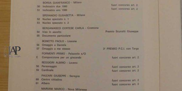 1980 – catalogo 10° Premio Giovanni Segantini – Archivio LAP – 015