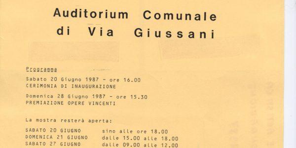 1987 – Premio Bice Bugatti – avviso mostra concorso monumento caduti e alla pace – Archivio foto LAP