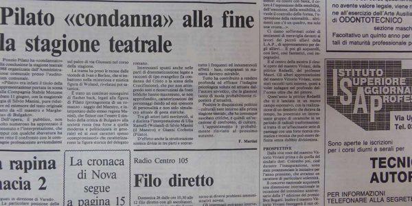 1988 – articolo de Il cittadino sul premio Segantini d