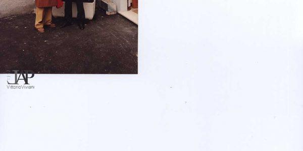 1990 – mostra antologica Viviani – coop. Nenni – Viviani e sindaco Colombo – Archivio Laura Barzaghi