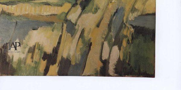 1991 – amina redaelli le torbiere – olio su tela 70×70 – archivio laura barzaghi