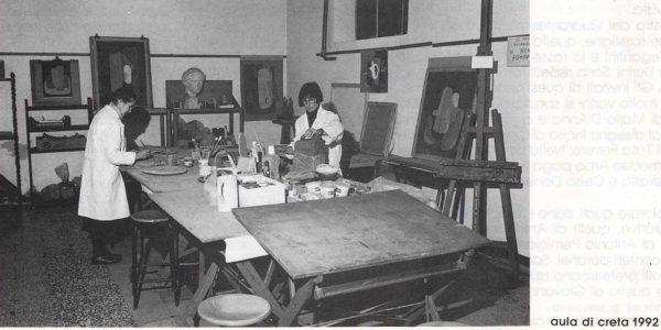1992 – aula corso di creta LAP – foto dal catalogo Premio 1992 (2)