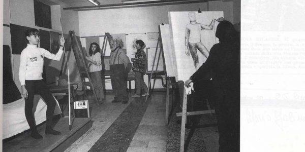 1992 – aula corso di figura LAP (2) – foto dal catalogo Premio 1992