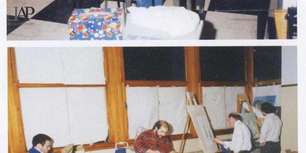 2005 – aule di pittura e scultura sede LAP nella scuola di via Biondi – foto dal catalogo mostra ex allievi del maestro Viviani 2005