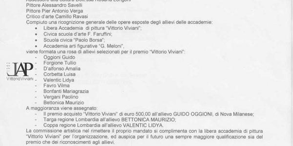 2009 – Verbale XI Premio Viviani 2009