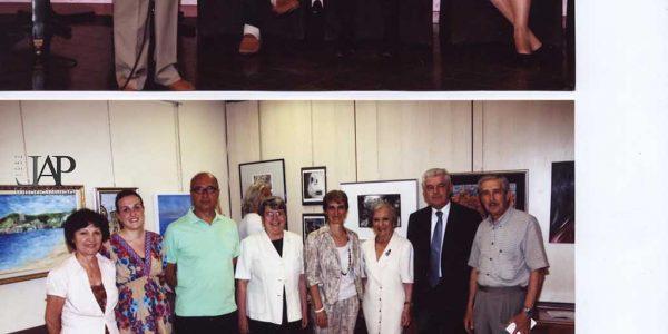 2010 – mostra allievi LAP al Centro a Desio – Archivio foto LAP – al microfono Zaggia pres. gruppo Amici dell'arte – seduto Clemente Schiatti