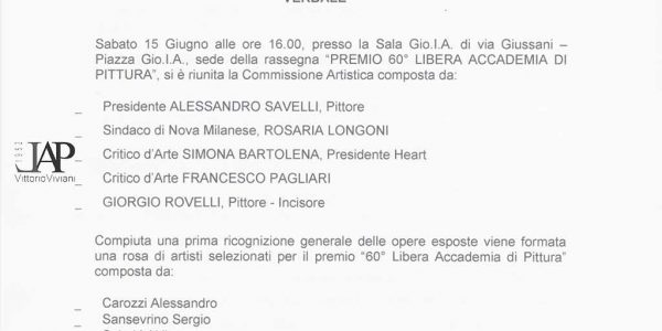 2013 – Verbale LIV premio Bugatti Segnatini 2013