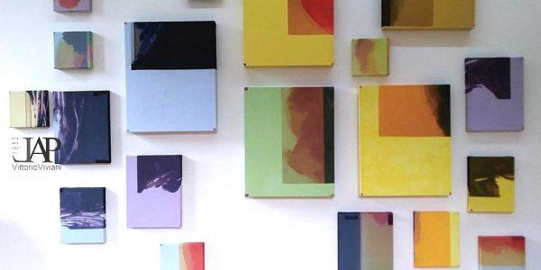 Veduta della mostra Komorebi, Italian abstraction, Italo Bressan, Villa Vertua Masolo, Nova Milanese